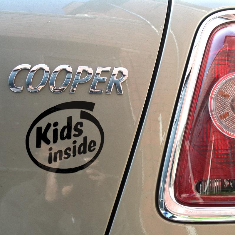 Kids inside sticker